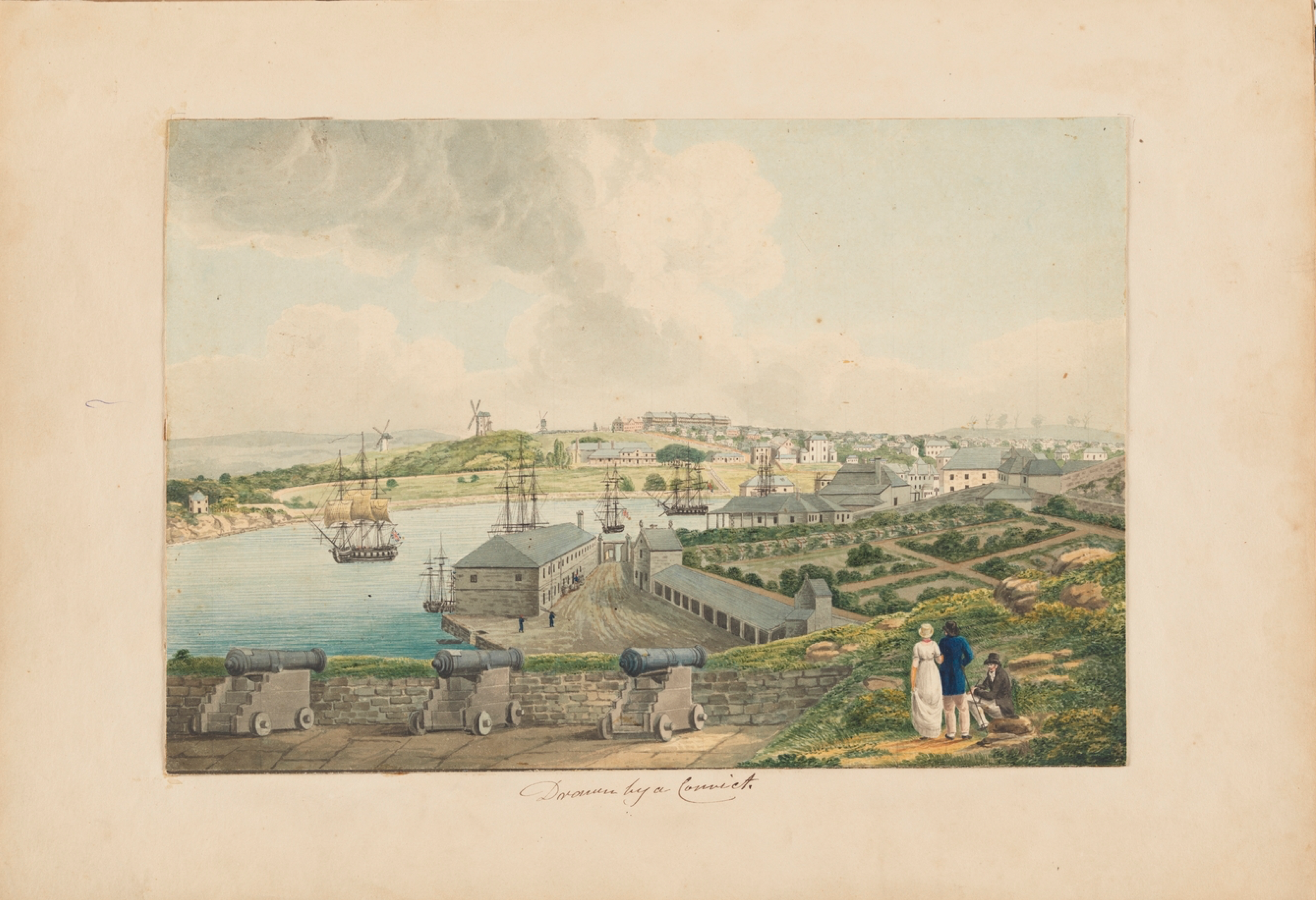 View of Sydney Cove, by Joseph Lycett